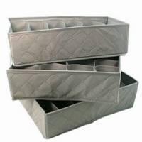 《iSFun》竹炭纖維*內衣收納盒3件組