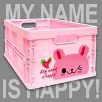 Happy Rabbit 輕巧折疊收納箱~超可愛摺疊收納