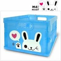 Happy Rabbit 輕巧折疊收納箱~透明款~超可愛摺疊收納