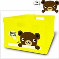 Happy Bear 輕巧折疊收納箱~透明款~超可愛摺疊收納