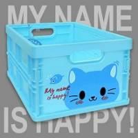 Happy Cat 輕巧折疊收納箱~超可愛摺疊收納