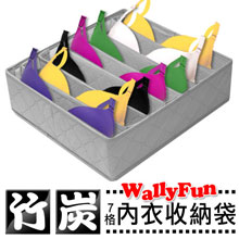 Wally Fun 竹炭7格(11L)內衣、圍巾、皮包整理收納袋