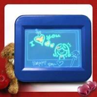 藍燈螢光留言板藍色 小 ★超醒目★留言 示愛一把罩~ 顏色隨機出貨