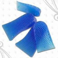 【足の美形】藍色蜂窩式矽膠雙層增高墊 一雙