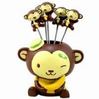 《可愛小猴》造型水果叉組