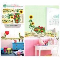 韓國進口壁貼-花園向日葵 --