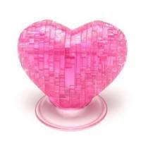 【粉紅桃心】立體水晶拼圖