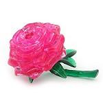 【粉紅玫瑰】立體水晶拼圖