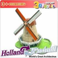 3D立體拼圖之世界好好玩-荷蘭 風車