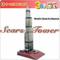 3D立體拼圖之世界好好玩-美國芝加哥希爾斯大廈