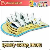 3D立體拼圖之<世界好好玩> 澳洲~雪梨歌劇院