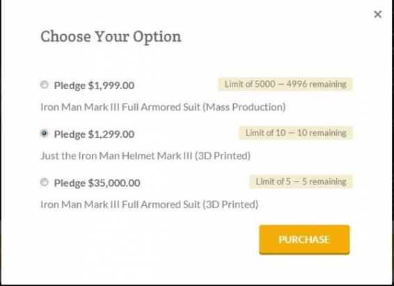 這可能是目前我們看到最好的鋼鐵人套裝?最貴的台幣要價105萬,只是不知道是不是騙局