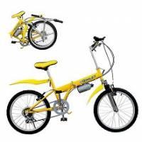 Gimlet任我行20吋五段變速摺疊腳踏車 法拉利黃
