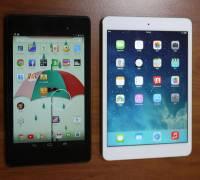 iPad mini Retina 和 Nexus 7 2013 平板電腦外觀比較