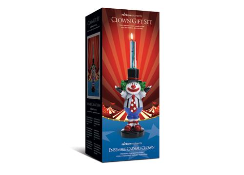 創意造型蠟燭座-小丑