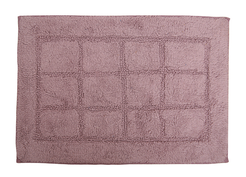 方格純色地墊-芋紫