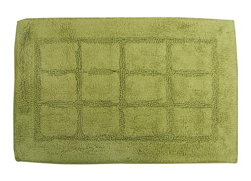方格純色地墊-草綠