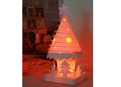 藝術紙雕燈-七彩聖誕樹