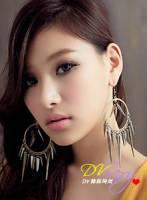 DV辣妹時尚 K0171E 誇張注目搖滾女神錐形铆釘時尚耳環