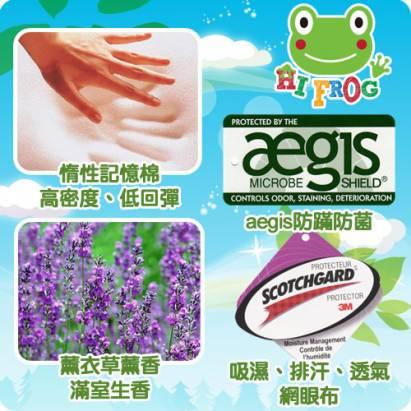 Hifrog 台灣製造高密度記憶兒童床墊-3M防蹣抗菌床墊套