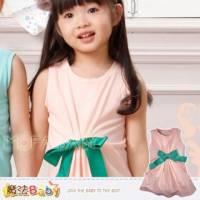 【換季↘69折】【魔法Baby】波波公主品牌~摺蝴蝶結背心連身衣 上衣~女童裝~k28201