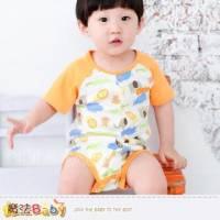 魔法Baby~日系寶寶短袖連身衣 哈衣 包屁衣 6~24M ~男女童裝~k28317