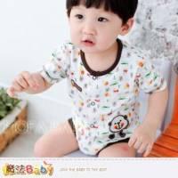 魔法Baby~日系寶寶短袖連身衣 包屁衣 6~24M ~男童裝~k28324