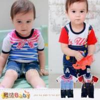[魔法Baby]時尚設計美式風格寶寶連身衣 包屁衣 A.B ~男女童裝~k28539