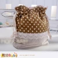 魔法Baby~日本風長型拼布束口小物袋 亞麻灰 咖啡 ~大人 小孩用品~f0116