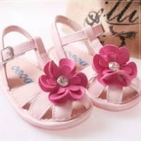魔法Baby ~KUKI 酷奇超大花朵俏皮粉色童鞋~女童鞋~s5225