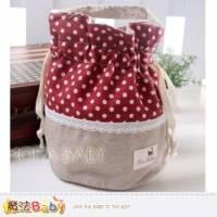 魔法Baby~點點拼布手提 束口圓筒包~大人 小孩用品~f0117