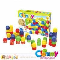 魔法Baby~【clemmy品牌】義大利原裝進口軟積木~40入軟積木組~a14709