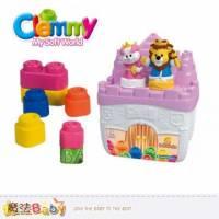 魔法Baby~【clemmy品牌】義大利原裝進口軟積木~獅子王的城堡組~a14748