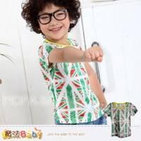 【魔法Baby】MY FRIENDED時尚品牌~輕盈涼感英國國旗潮T 上衣~男女童裝~k28782