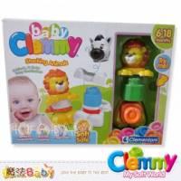 魔法Baby~【clemmy品牌】義大利原裝進口軟積木~堆疊獅子組~a14886