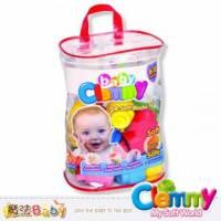 魔法Baby~【clemmy品牌】義大利原裝進口軟積木~新24pcs袋裝積木~a14889