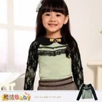 【魔法Baby】時尚童裝DODOMO~氣質蕾絲袖後扣式上衣~女童裝~k29147