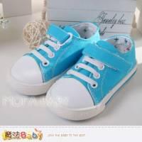 魔法Baby~【KUKI酷奇】亮彩藍經典款帆布鞋~男童鞋~sh2785