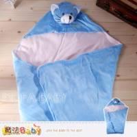 魔法Baby~小熊厚絨護頭抱巾~嬰幼兒用品~k00880