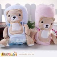 魔法Baby~QQ熊造型四季毛毯 藍.粉 ~嬰幼兒用品~k29529