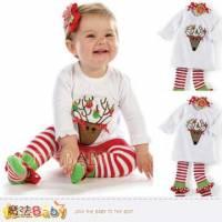 魔法Baby~繽紛聖誕小鹿女寶寶套裝~女童裝~k29635