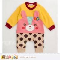 【魔法Baby】花朵小兔點點連身衣 包屁衣~女童裝~k29772