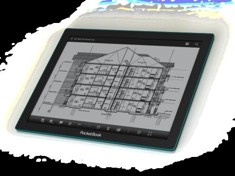 專為工程建設閱讀 CAD 設計圖催生, PocketBook CAD Reader 採用 E-Ink Fina 電子紙