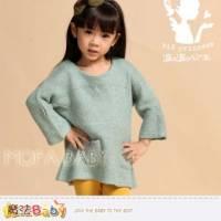 【魔法Baby】俏麗甜美波波公主品牌~針織毛線長衫 上衣~女童裝~k30488