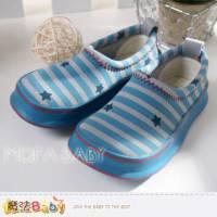 【魔法Baby】繽紛條紋星星印花舒適懶人鞋 休閒鞋~男童鞋~sh3195