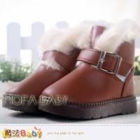 魔法Baby~【KUKI酷奇】時尚溫暖絨毛雪靴~女童鞋~時尚設計~sh3225