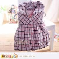 魔法Baby~百貨專櫃正品LE18品牌~氣質格紋厚鋪棉背心裙~女童裝~k32024