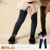 【魔法Baby】DODOMO品牌~蕾絲綁碎花布腰飾長褲 褲子~女童裝~k30914