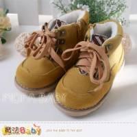 魔法Baby~反毛真皮帥氣經典時尚童靴~男童鞋~時尚設計~sh3317