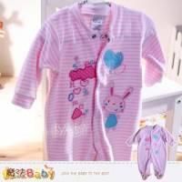 魔法Baby~法國設計愛心小兔細絲絨包腳連身衣 包屁衣~女童裝~k32420